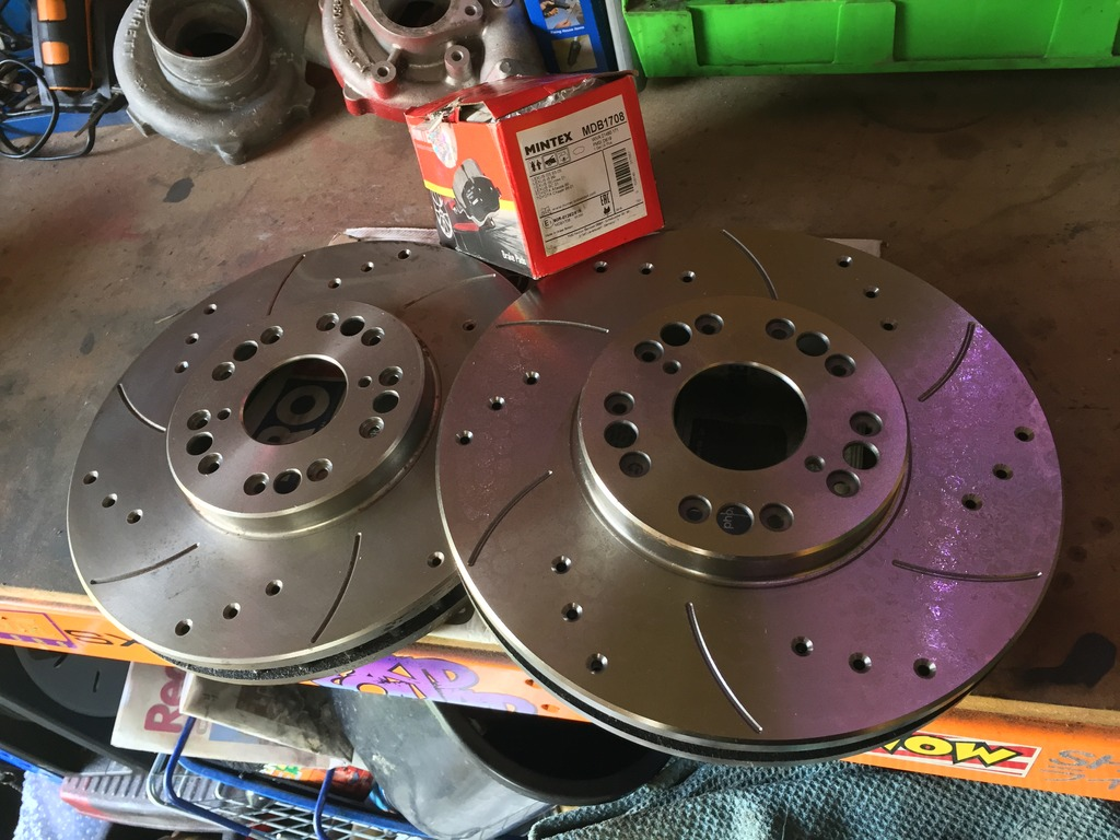 For Sale - Soarer front brakes, drilled & grooved discs & pads