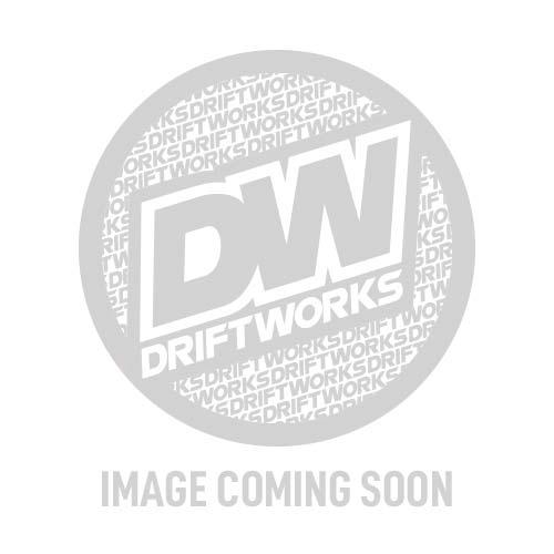 T&E Vertex JDM Steering Wheel - FLAT BLUE - Flat Spokes Blue Logo